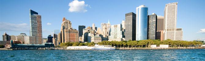 Manhattan Skyline Hudson River