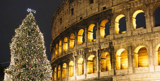 Rom Weihnachtsbaum Coloseum