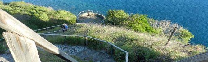 Aufstieg Lookout Pigeon Island National Park