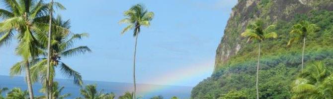 Regenbogen Saint Lucia