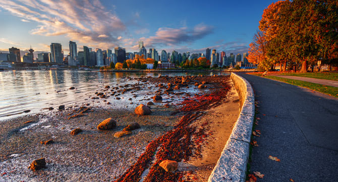 Photowalk Stanley Park Seawall Strand, Vanouver Kanada
