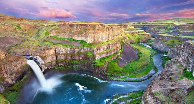The Palouse Falls Washington
