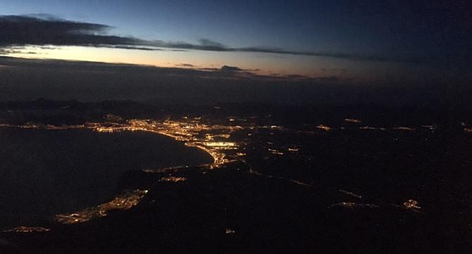Perspektive aus dem Flugzeug