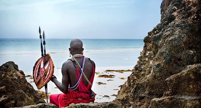 Ureinwohner am Strand