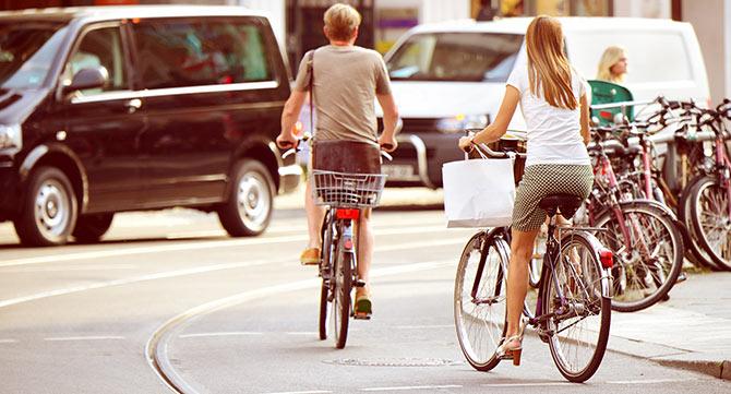 Velofahren in der Stadt